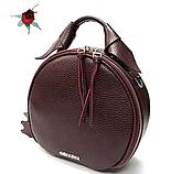 Женская кожаная сумочка круглой формы Galvani COMO, фото 8
