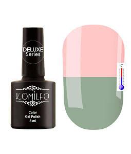 Гель-лак Komilfo DeLuxe Termo №C002 (бледный, серо-зеленый, при нагревании - розовый), 8 мл