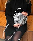 Женская кожаная сумочка круглой формы Galvani COMO, фото 10