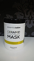 Маска для пошкодженого волосся Ceramid 1000мл. Profis