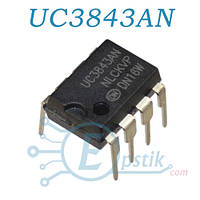 UC3843AN, ШИМ контроллер, DIP8