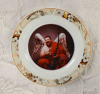 Фото на тарелке, сувенирная тарелка