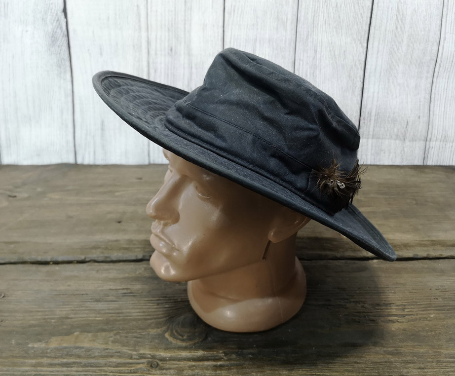 Шляпа из вощеного хлопка 09847f55669ba