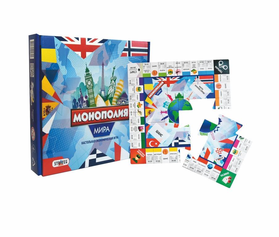 Игра Монополія світу  7007 Strateg