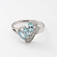 Серебряное кольцо с топазом 2181049
