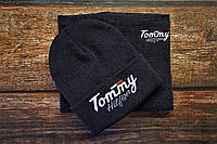 Комплект мужской шапка + бафф серый Томми