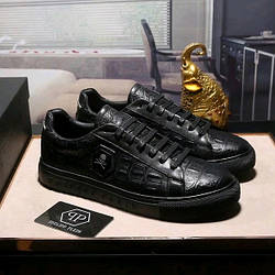 """Мужские кроссовки Philipp Plein 2 """"Black"""" ( в стиле Филипп Плейн )"""