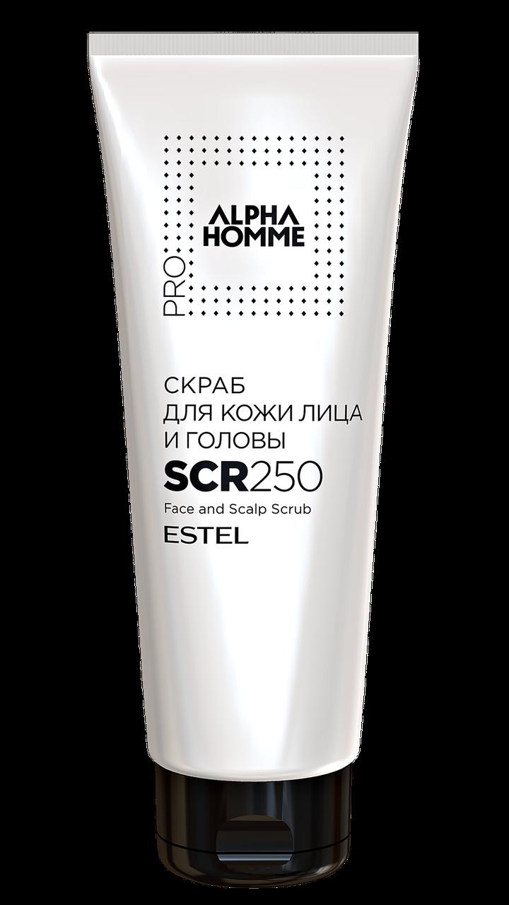 Скраб для шкіри обличчя і голови ALPHA HOMME PRO 250мл.