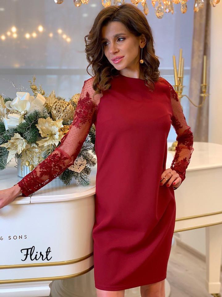 7f29d82ea54 Женское прямое платье из кружева