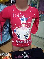 Детский костюм для девочки Турция лосины + туника,  реглан котик  4-5  лет