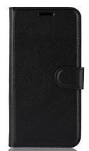 Кожаный чехол-книжка для Lenovo S5 черный