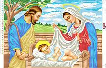 Схема для вышивки бисером  Ісус в колисці СВР 2008  формат А2