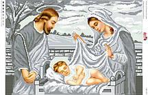 Схема для вышивки бисером  народження Ісуса  срібна   СВР 2020  формат А2