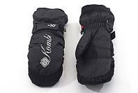 Перчатки Kombi SPOOKY WG женские, черные с вышитым лого, размер S