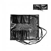 Чехол для кистей на 7 секций ,на завязках ,черный