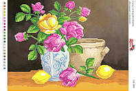 Вышивка бисером СВ 3080 Натюрморт цветы формат А3