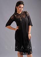 Платье большого размера Likara. Размеры: батал(50,52,54,56)