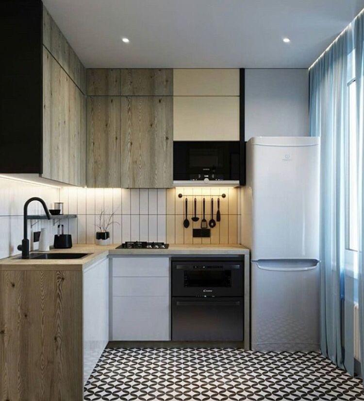 Угловая кухня в хрущевку с маленькой кухней