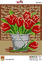 Алмазна вишивка АВ 4004 Тюльпани (повна зашивання)