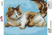 Алмазна вишивка АВ 4008 Кішка (повна зашивання)