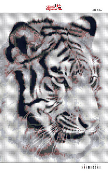 Алмазна вишивка АВ 3006 Тигр (25,3*35,2 см)