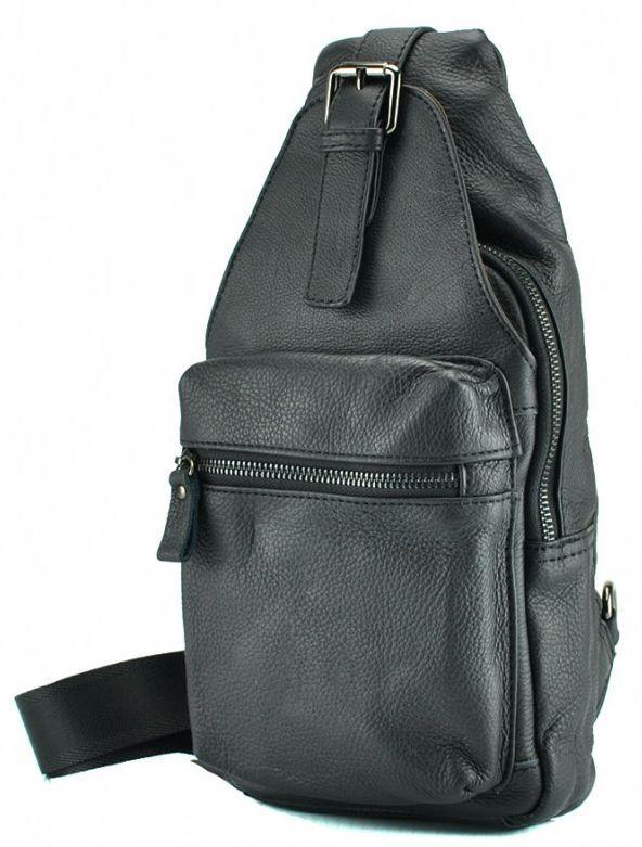 678ed2f61668 Кожаный рюкзак TIDING BAG 8809A, 3л., черный — только качественная ...