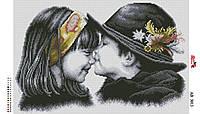 Алмазная вышивка АВ 3013 Мальчик с девочкой   (25,3*35,2см)