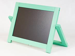 Мольберт настольный окрашенный  деревянный двухсторонний  с магнитной доской 40х4х30 см, фото 2