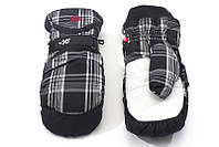 Перчатки Kombi SPOOKY WG мужские, черные в клеточку, размер S