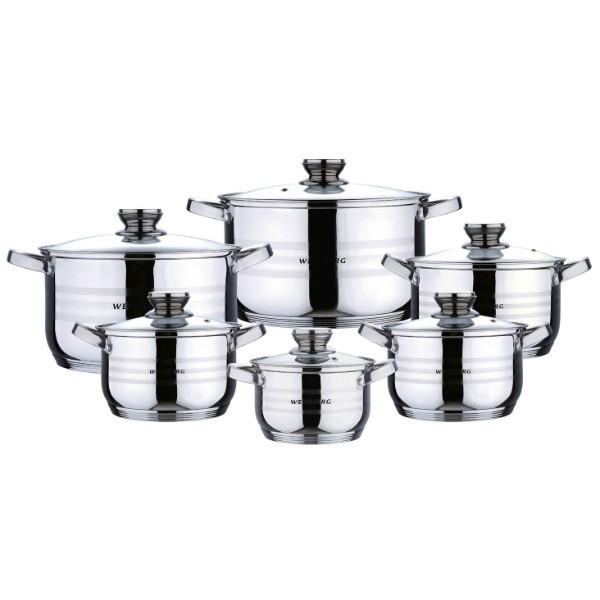 Набор кастрюль ( набор посуды ) 12 пр. Wellberg WB 02119
