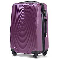 Малый пластиковый чемодан Wings 304 на 4 колесах фиолетовый, фото 1