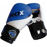 Боксерские перчатки RDX Authentic Rex Leather Blue, фото 1
