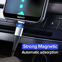 Магнитный кабель Ugreen Micro USB / Type-C для зарядки и передачи данных (Черный), фото 3
