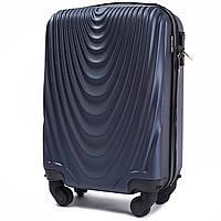 Микро пластиковый чемодан Wings 304 на 4 колесах синий