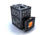 """Печь каменка для бани  """"Пруток"""" -ПКС-01 Дверца со стеклом топка хром 18%  серия """"Профи"""", фото 1"""