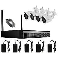 Комплект видеонаблюдения беспроводной на 4 камеры Longse WIFI 3604-2Mp Kit 4, 300 метров, 2 Мп, FullHD 1080P