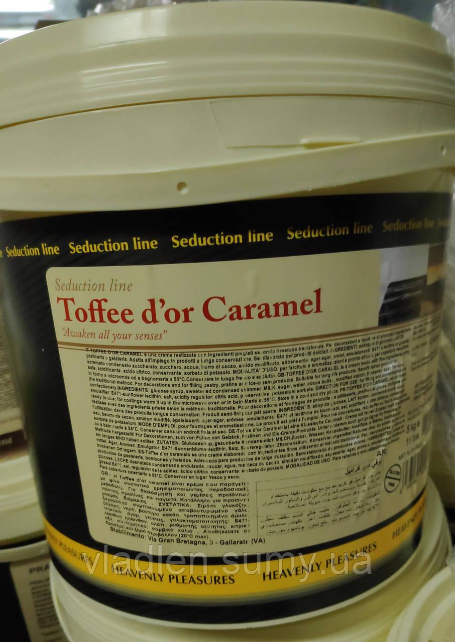 Тоффи-крем карамельный для начинок и украшения (TOFFEE D'OR CARAMEL), IRCA, Италия (фасовка 5 кг)