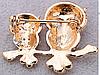 Брошь брошка 2 совы сова филин камни сверкает шикарная под золото, фото 3