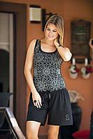 Женская пижама, костюм для дома майка  и шорты Shirly 4540