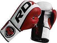 Боксерские перчатки RDX Rex Leather Red, фото 1