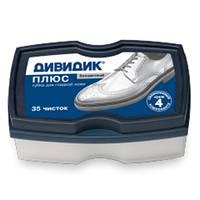 """Губка для обуви Дивидик """"Плюс"""" бесцветная"""