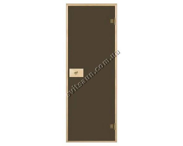 Двери для сауны стандартные, цвет бронза 80*190, фото 2