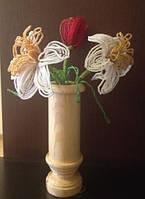 Букет тюлпан и нарциссы из бисера, прекрасный подарок женщине (девушке) на 8 Марта, фото 1