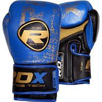 Боксерские перчатки RDX Ultra Gold Blue, фото 1