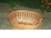 Плетеная корзина для белья без крышки
