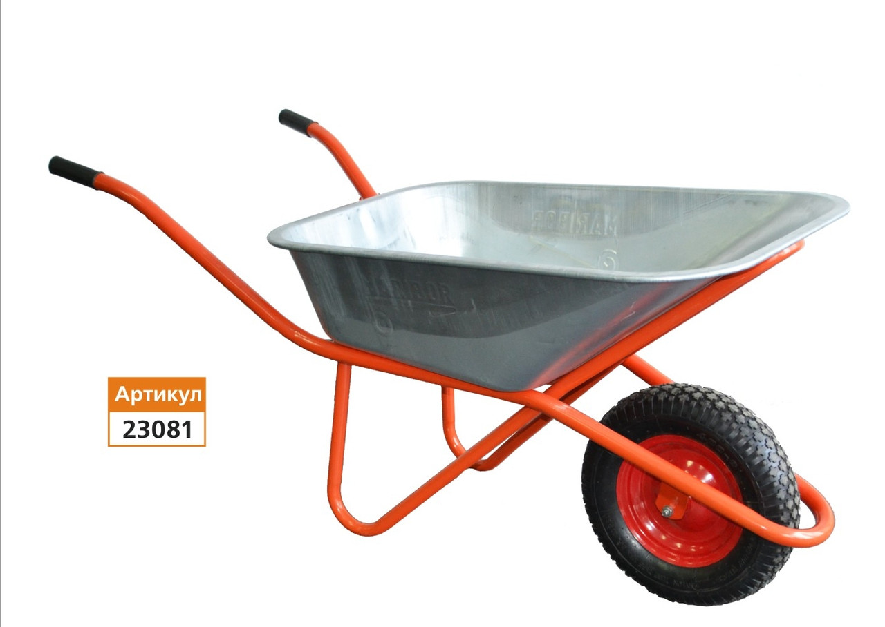 Тачка будівельна 85л/160 кг, одноколісна колесо 400мм