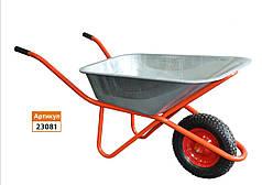 Тачка строительная 85л/160 кг, одноколесная колесо 400мм