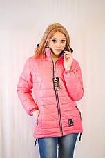 Красивая модная дешевая демисезонная удлиненная куртка с капюшоном , фото 2