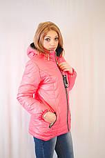 Красивая модная дешевая демисезонная удлиненная куртка с капюшоном , фото 3