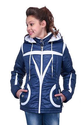 Красивая куртка на девочку осень газета, фото 2